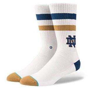 Stance Notre Dame Socks White Size Large 9-12